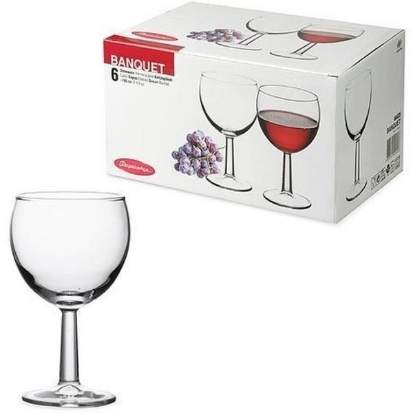Набор фужеров «Банкет» д/вина 195 мл. (6 шт.) 44435