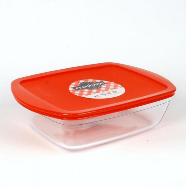 Блюдо прямоугольное с крышкой «Окузин» 28×20 см. 2,6 л. 216РС00
