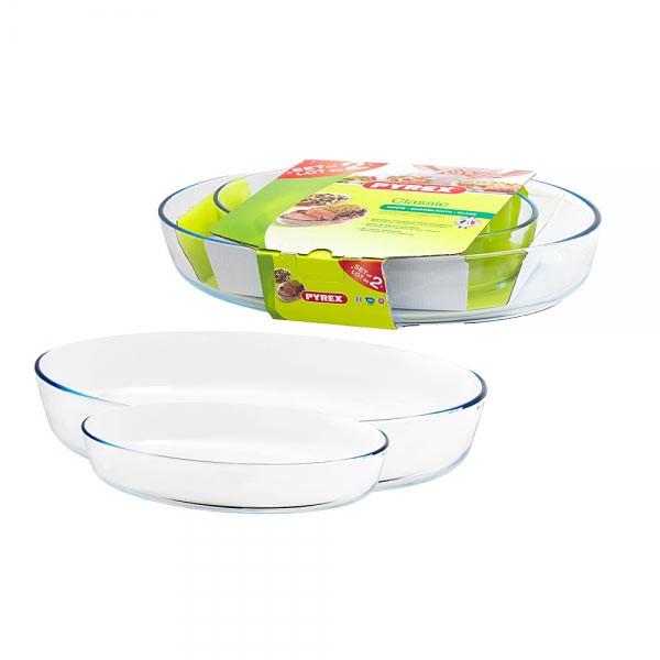 Набор 2 шт.  овальное блюдо «Классик» 30×21 см. + 39×27 см. 912S756