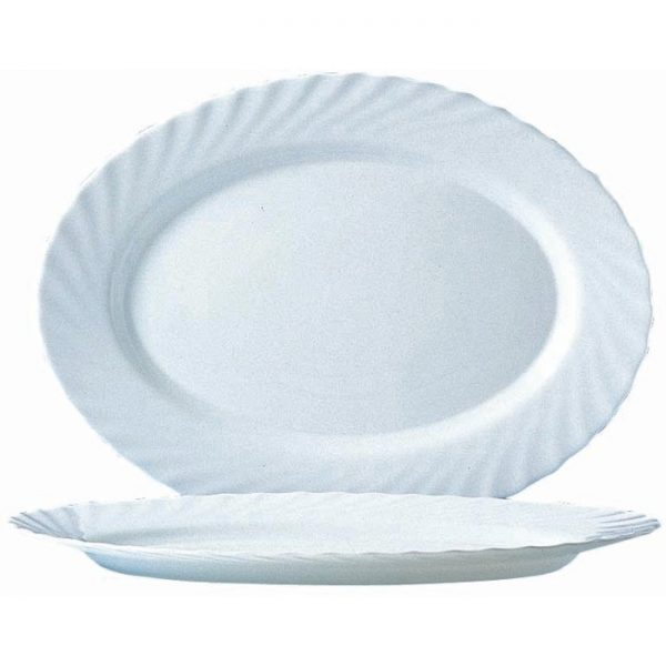 Блюдо овальное «Трианон» белое большое