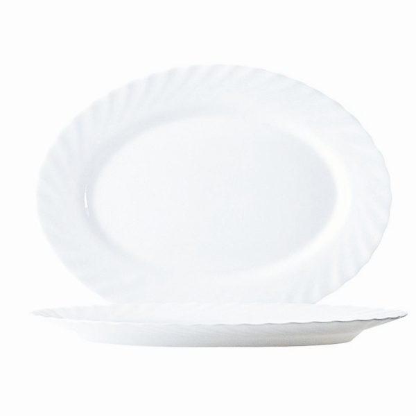 Блюдо овальное «Трианон» белое маленькое