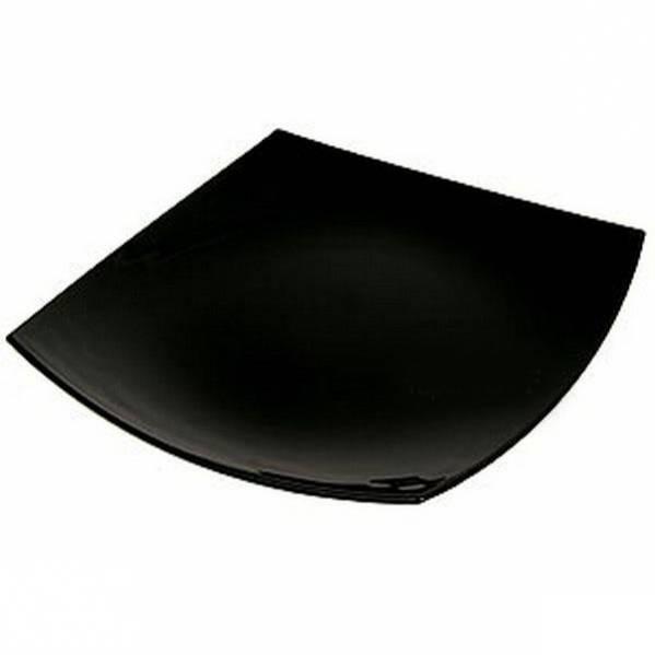 Подтарельник «Квадрато» черный/белый  26 см.