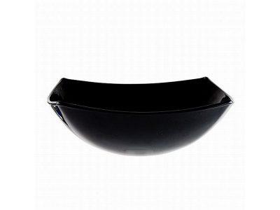 Салатник «Квадрато» черный/белый большой 24 см.