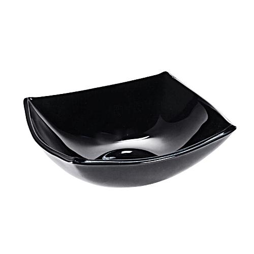 Салатник «Квадрато» черный/белый маленький 12 см.