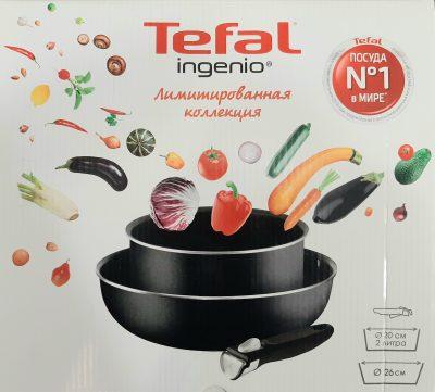 Набор посуды Tefal Ingenio со съёмной ручкой ковш 20 см, вок 26 см